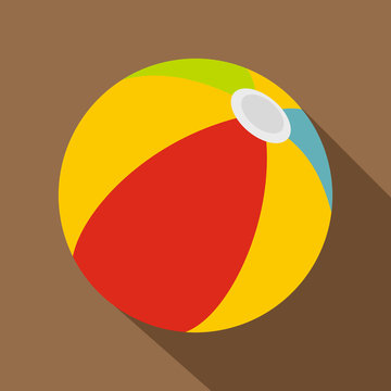 Beach ball icon. Flat illustration of beach ball vector icon for web
