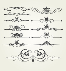 Vector Set of calligraphic Elements Design