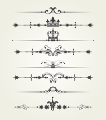 Vintage elements ornaments and dividers for Your design