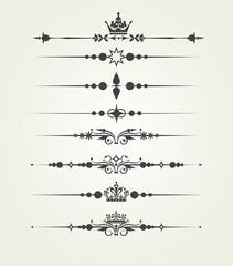 Vector set. Victorian Scrolls, dividers. Decorative elements.
