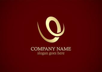 loop curve letter v gold logo