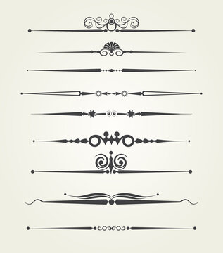 Design elements and page decoration, vector set