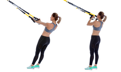 Suspension cable biceps curl