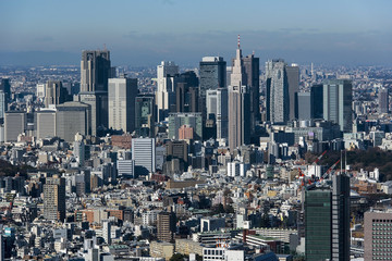 Tokyo cityscape in the day, Japan