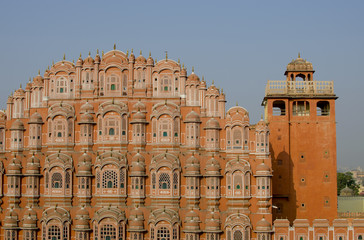 The palace in India Jaipur Hava Makhal