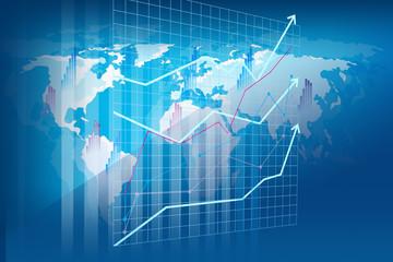 Obraz Raport rachunkowości i analizy finansowej - wizualizacja przestrzenna - fototapety do salonu