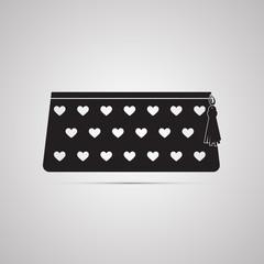Векторная иллюстрация иконка простой символ плоский для веб pencil case пенал косметичка сумочка