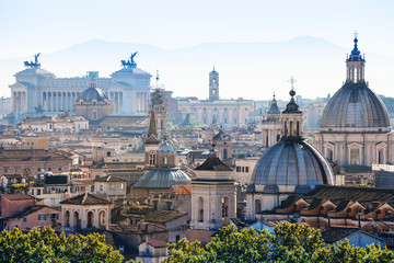 Poster Rome above view of Rome city in side of Capitoline Hill