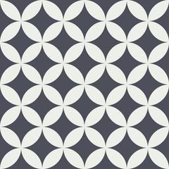 Seamless pattern vintage circle flower background