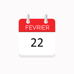 icone rouge a spirale calendrier