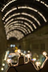 Photo Christmas lights of city