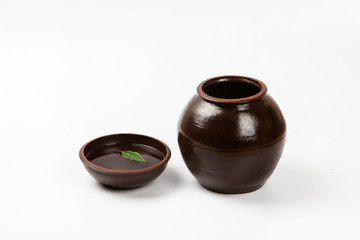 Open Crock Ceramic jar product for sauce korea