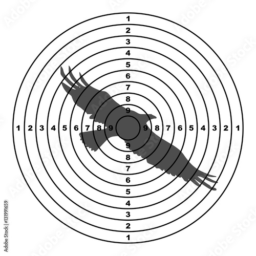 Shooting Targets With Hawk Stock Image And Royalty Free Vector