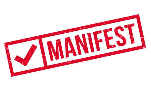 Manifest rubber stamp