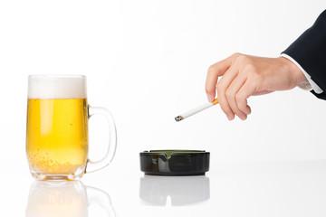 ビールと煙草