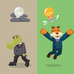 business animal briliant idea