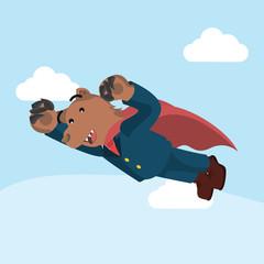 bear business superhero flying