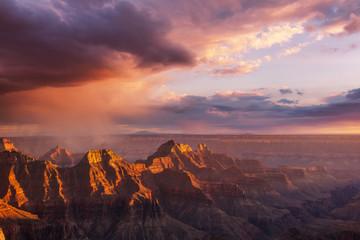Wall Murals Orange Glow Grand Canyon