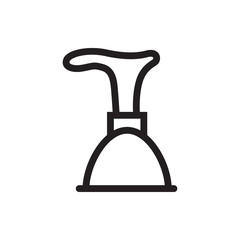 plunger icon illustration