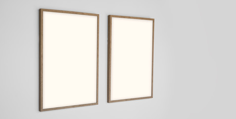 Picture frame for photograph template - with clipping path