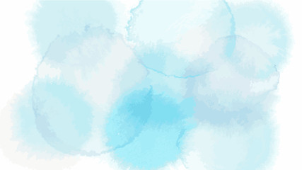 blue flower tone color abstract vector background, look like watercolor drop style