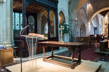 Burford Church Wooden Altar