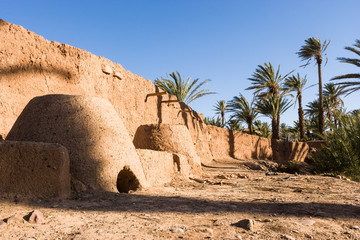 Bread oven at Oasis campground at Agdz, Morocco