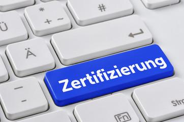 Tastatur mit farbiger Taste - Zertifizierung