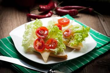 Fried toast sandwich.