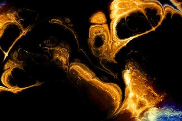 Abstract games of lights and shapes. Fractal colored fiber, abstract design background, digital illustration art work.