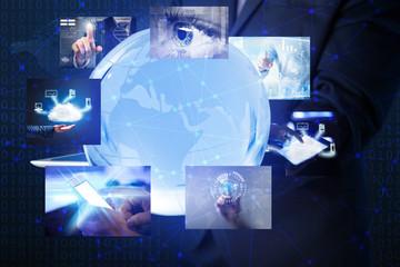 Modern technology concept. Worldwide internet connection