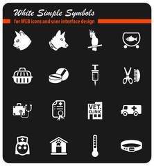 veterinary clinic icon set