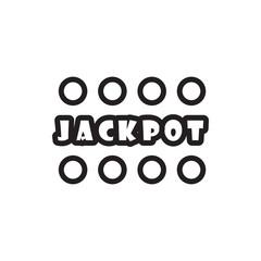 Jackpot icon illustration