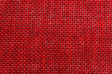 red fabric texture close up background for design