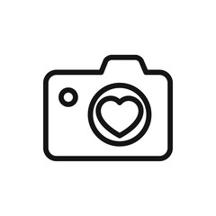 heart with camera icon illustration