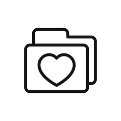 folder with heart icon illustration