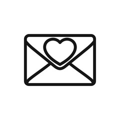 love letter icon illustration