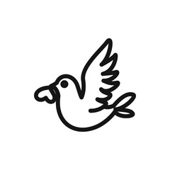 love bird icon illustration