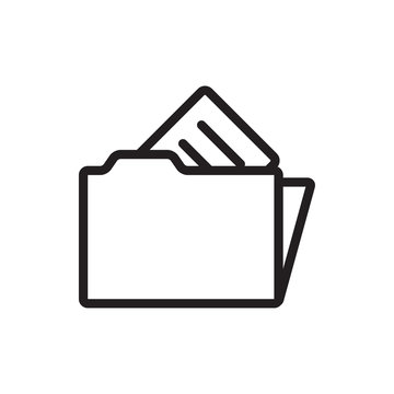 document in folder icon illustration