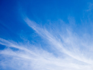 White cloud on beautiful blue sky background