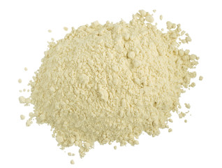 Handful Of White Flour Top View