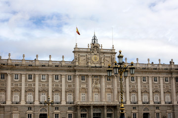 The Royal Palace of Madrid, the official residence of the Spanish Royal Family, used for state ceremonies