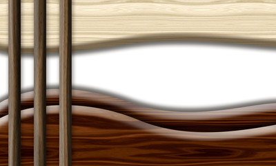 Wood textured background. Abstract wave.