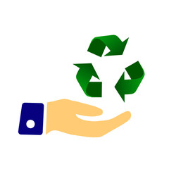 Hand holding Recycle symbol