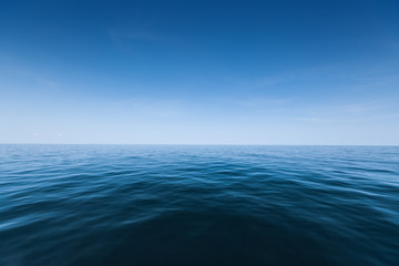Calm sea surface with waves at day