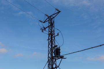 Poste de alta tension, electricidad