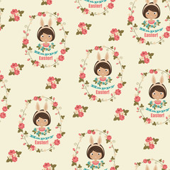 Happy Easter seamless wallpaper