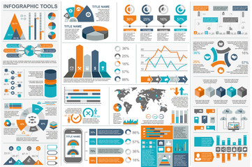 Infographic elements vector Wall mural