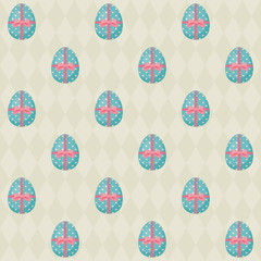 Easter seamless pattern with Easter eggs 2