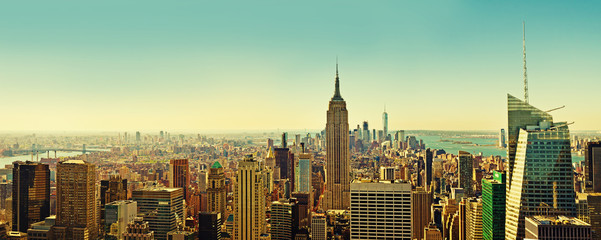 Top view of panorama of New York